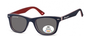 MP41J;; Blu + rosso  Polarized - Rubbertouch - Soft Pouch Included ;50;22;152