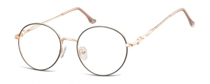 L120A;;Oro rosa lucido + nero opacoLadies Metal Frame - Stainless Steel;53;19;145