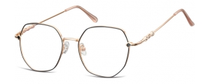 L121A;;Oro rosa lucido + nero opacoLadies Metal Frame - Stainless Steel;53;18;144