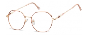 L122;;Oro rosa lucido + rosso opacoLadies Metal Frame - Stainless Steel;54;18;143
