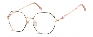 L122A;;Oro rosa lucido + nero opacoLadies Metal Frame - Stainless Steel;54;18;143