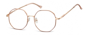 L123;;Oro rosa lucido + rosso opacoLadies Metal Frame - Stainless Steel;53;17;148