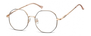 L123A;;Oro rosa lucido + nero opacoLadies Metal Frame - Stainless Steel;53;17;148