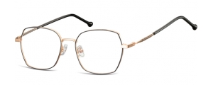 L124A;;Oro rosa lucido + nero opacoLadies Metal Frame - Stainless Steel;53;17;144