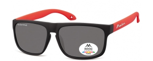 MP37B;; Nero + rosso  Polarized - Rubbertouch - Soft Pouch Included ;58;15;140