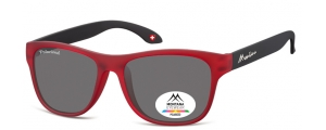 MP38B;; Rosso + nero  Polarized - Rubbertouch - Soft Pouch Included ;54;17;140
