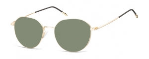 SG-928D;; Oro+ lenti G15  Metal Sunglasses - Optical Quality - UV400 - CAT 3. - Soft Pouch Included ;53;18;148