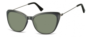 SG-CP121;; Nero + lenti G15  Injected CP Sunglasses - Optical Quality - UV400 - CAT 3. - Soft Pouch Included ;51;17;145