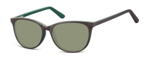 SG-CP152C;; Marrone + verde + lenti G15 Flex Injected CP Sunglasses - Optical Quality - UV400 - CAT 3. - Soft Pouch Included ;52;16;145