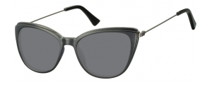 SS-CP121;; Nero + lenti fumo  Injected CP Sunglasses - Optical Quality - UV400 - CAT 3. - Soft Pouch Included ;51;17;145