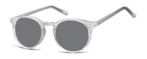 SS-CP123;; Grigio trasparente + lenti fumo  Injected CP Sunglasses - Optical Quality - UV400 - CAT 3. - Soft Pouch Included ;48;21;143