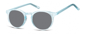 SS-CP123A;; Blu trasparente + lenti fumo  Injected CP Sunglasses - Optical Quality - UV400 - CAT 3. - Soft Pouch Included ;48;21;143