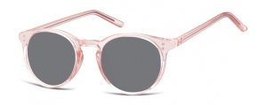 SS-CP123C;; Rosa trasparente + lenti fumo  Injected CP Sunglasses - Optical Quality - UV400 - CAT 3. - Soft Pouch Included ;48;21;143
