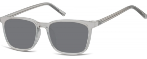 SS-CP124;; Grigio trasparente + lenti fumo  Injected CP Sunglasses - Optical Quality - UV400 - CAT 3. - Soft Pouch Included ;51;18;144