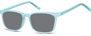 SS-CP124A;; Blu trasparente + lenti fumo  Injected CP Sunglasses - Optical Quality - UV400 - CAT 3. - Soft Pouch Included ;51;18;144
