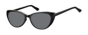 SS-CP138;; Nero + lenti fumo Flex Injected CP Sunglasses - Optical Quality - UV400 - CAT 3. - Soft Pouch Included ;52;16;142
