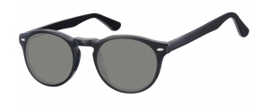 SS-CP148A;; Nero + lenti fumo  Injected CP Sunglasses - Optical Quality - UV400 - CAT 3. - Soft Pouch Included ;49;21;145