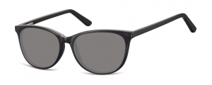 SS-CP152;; Nero + lenti fumo Flex Injected CP Sunglasses - Optical Quality - UV400 - CAT 3. - Soft Pouch Included ;52;16;145