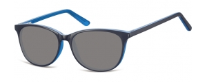 SS-CP152D;; Nero + blu + lenti fumo Flex Injected CP Sunglasses - Optical Quality - UV400 - CAT 3. - Soft Pouch Included ;52;16;145
