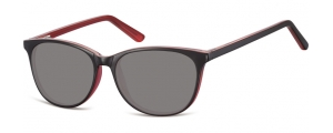 SS-CP152F;; Nero + rosa + lenti fumo Flex Injected CP Sunglasses - Optical Quality - UV400 - CAT 3. - Soft Pouch Included ;52;16;145