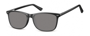 SS-CP153;; Nero + lenti fumo Flex Injected CP Sunglasses - Optical Quality - UV400 - CAT 3. - Soft Pouch Included ;54;17;140
